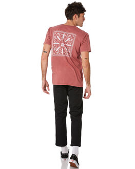 FADED RED MENS CLOTHING ALOHA ZEN TEES - AZ455FDRED