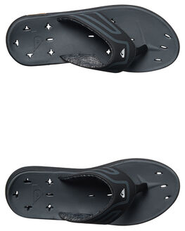 BLACK BLACK GREY MENS FOOTWEAR QUIKSILVER THONGS - AQYL100369XKKS