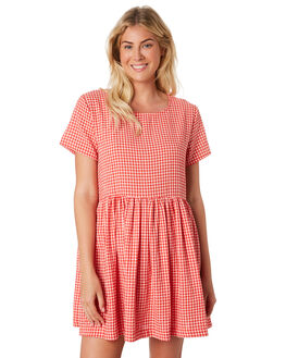 RED WHITE WOMENS CLOTHING HUFFER DRESSES - WDR84S9301-189