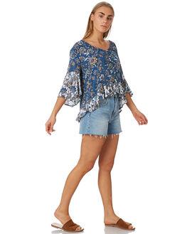 BLUE FLORAL WOMENS CLOTHING O'NEILL FASHION TOPS - 5421204BLF
