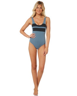 CELESTIAL TEAL WOMENS SWIMWEAR HURLEY ONE PIECES - 941932-403