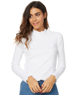 WHITE WOMENS CLOTHING THE HIDDEN WAY TEES - H8173101WHT