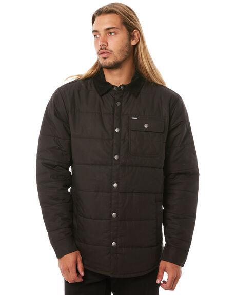 BLACK BLACK MENS CLOTHING BRIXTON JACKETS - 03027BKBLK