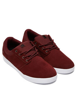 BURGUNDY WHITE MENS FOOTWEAR ETNIES SNEAKERS - 4101000517637