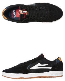BLACK YELLOW MENS FOOTWEAR LAKAI SNEAKERS - MS3190082A00BLKY