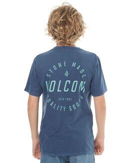 BLUE KIDS BOYS VOLCOM TEES - C4341771BLU