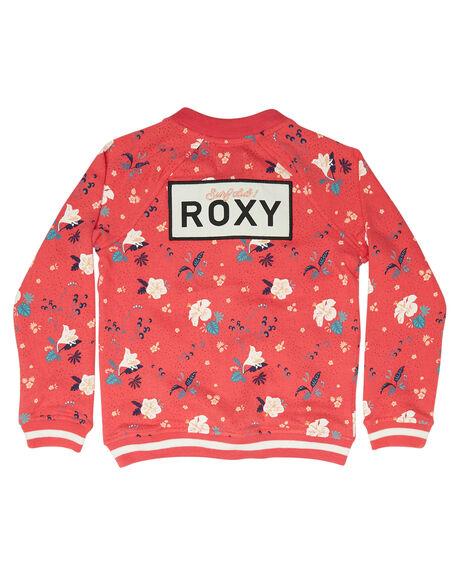 ROUGE RED TROPICOOL KIDS GIRLS ROXY JUMPERS + JACKETS - ERLFT03135MLJ8