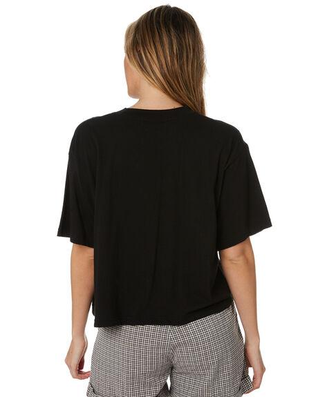 BLACK WOMENS CLOTHING STUSSY TEES - ST193002BLK
