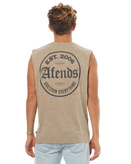 OAT MARLE MENS CLOTHING AFENDS SINGLETS - 01-05-105OMRL