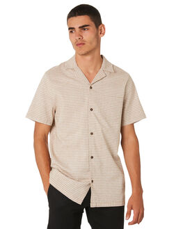 CAMEL MENS CLOTHING BANKS SHIRTS - WSS0081CML