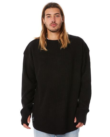 BLACK MENS CLOTHING RPM KNITS + CARDIGANS - 8WMT15ABLK