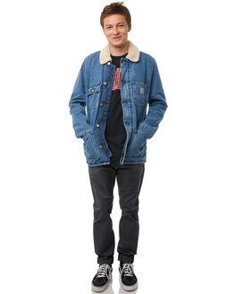 BLUE MENS CLOTHING CARHARTT JACKETS - I02040601