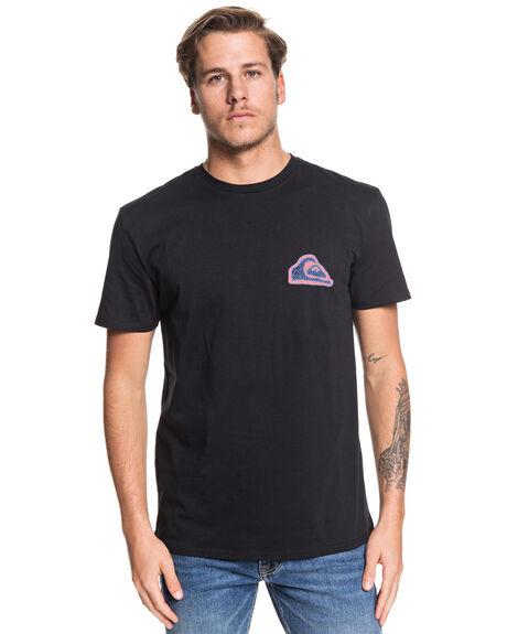 BLACK MENS CLOTHING QUIKSILVER TEES - EQYZT05476-KVJ0