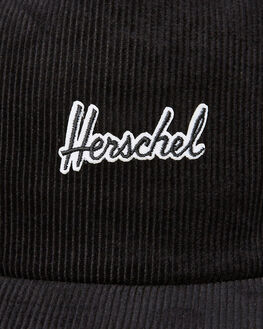 BLACK MENS ACCESSORIES HERSCHEL SUPPLY CO HEADWEAR - 1143-0963-OSBLK