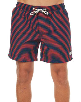 NAVY RED MENS CLOTHING ACADEMY BRAND BOARDSHORTS - 18S757NVY