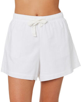 WHITE WOMENS CLOTHING NUDE LUCY SHORTS - NU23685WHT