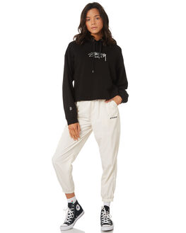 BLACK WOMENS CLOTHING STUSSY JUMPERS - ST197309BLK