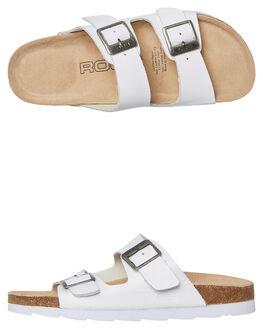 WHITE WOMENS FOOTWEAR ROC BOOTS AUSTRALIA SLIDES - BERMUDAWHT