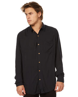 BLACK MENS CLOTHING THE PEOPLE VS SHIRTS - W17045-BLK