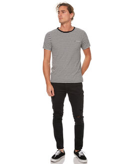 BLACK SMOKE TRASH MENS CLOTHING ZIGGY JEANS - ZM-1137BKSTR