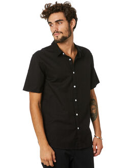 BLACK MENS CLOTHING SWELL SHIRTS - S5201168BLACK