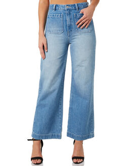 SKY BLUE WOMENS CLOTHING ROLLAS JEANS - 12787-2368