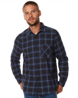 BLACK INDIGO MENS CLOTHING NUDIE JEANS CO SHIRTS - 140490BIND