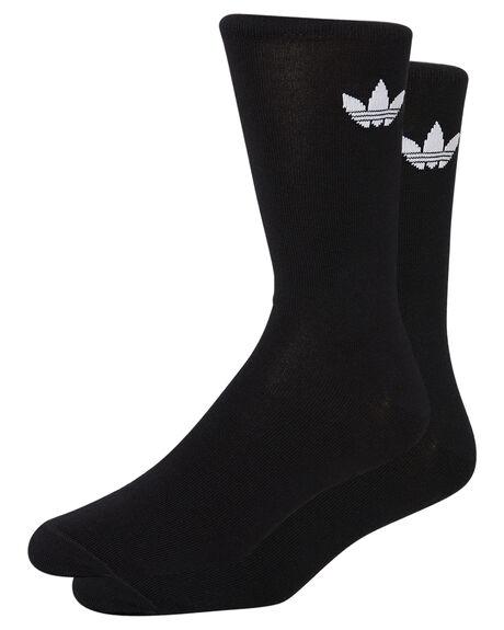 BLACK WHITE MENS CLOTHING ADIDAS SOCKS + UNDERWEAR - DV1729BLKWH