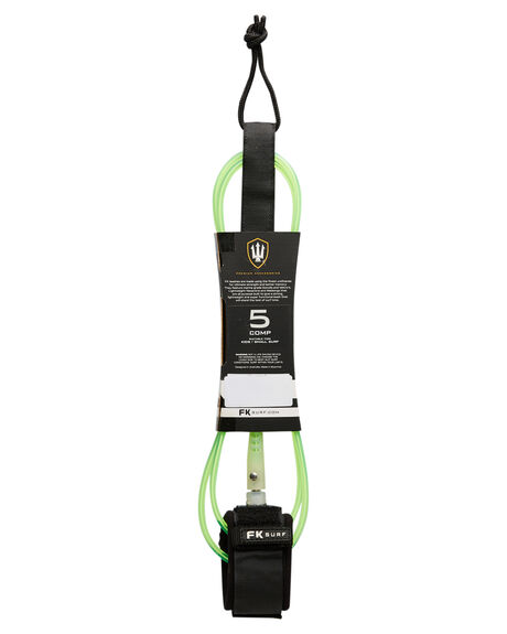 LIME BLACK BOARDSPORTS SURF FK SURF LEASHES - 1288LIMBLK