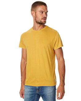 ROYAL YELLOW MENS CLOTHING NUDIE JEANS CO TEES - 131525RYLW