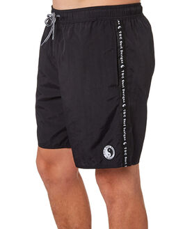 BLACK MENS CLOTHING TOWN AND COUNTRY BOARDSHORTS - TBO114BLK