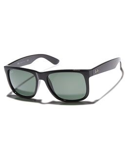 BLACK GREEN MENS ACCESSORIES RAY-BAN SUNGLASSES - 0RB41655560171