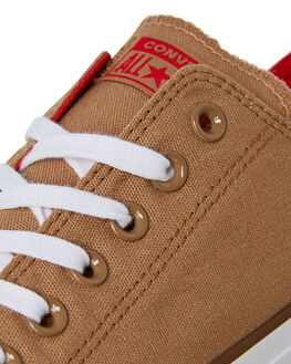 TEAK RED BROWN MENS FOOTWEAR CONVERSE SNEAKERS - 162454TEAK