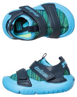 BLUE KIDS BOYS SKECHERS FOOTWEAR - 98010NLMBL