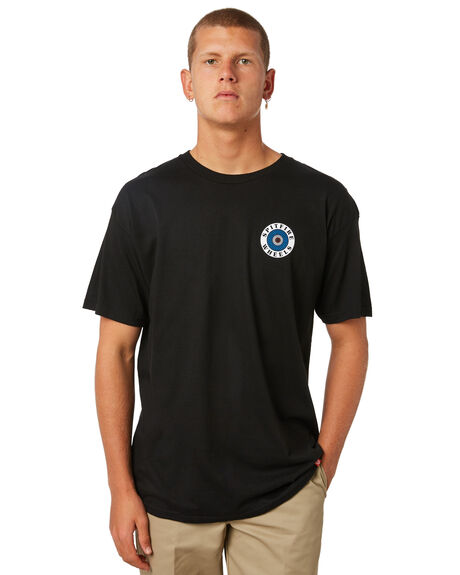 BLACK MENS CLOTHING SPITFIRE TEES - 51010585BBLK