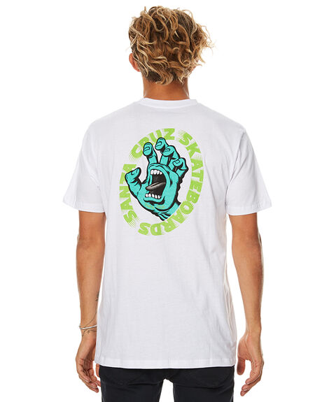 WHITE MENS CLOTHING SANTA CRUZ TEES - SC-MTB7442WHT