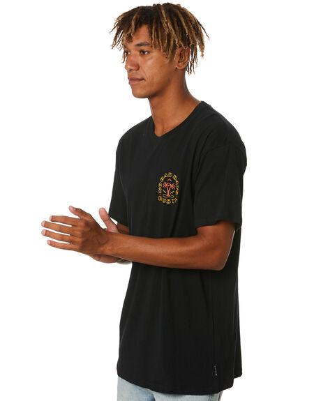 BLACK MENS CLOTHING RUSTY TEES - TTM2573BLK