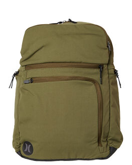 OLIVE CANVAS MENS ACCESSORIES HURLEY BAGS + BACKPACKS - HU0007395