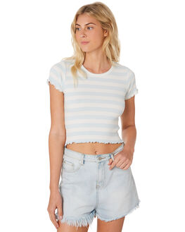 MINT STRIPE WOMENS CLOTHING ALL ABOUT EVE TEES - 6405150STR