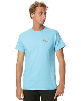 PALE BLUE MENS CLOTHING FEAT TEES - FTSSCBO01PBLU