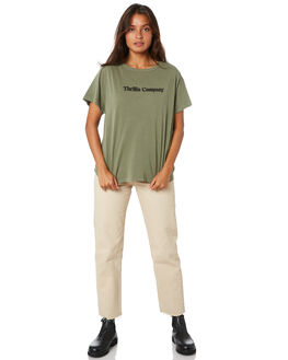 DUNE GREEN WOMENS CLOTHING THRILLS TEES - WTW20-104FDGRN