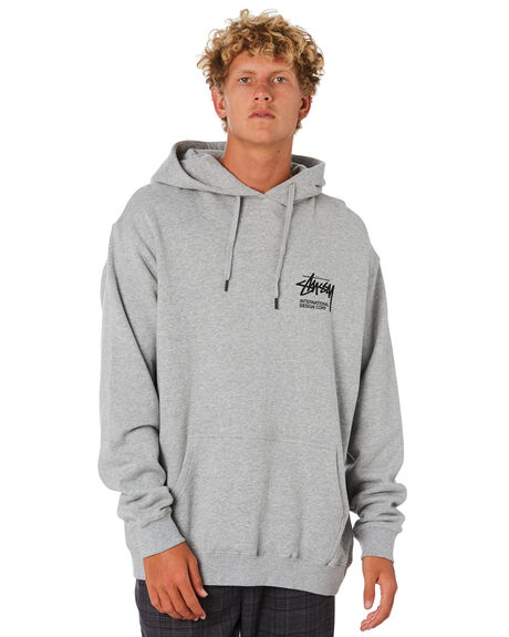 TRUE GREY MARLE MENS CLOTHING STUSSY JUMPERS - ST006205TGRML