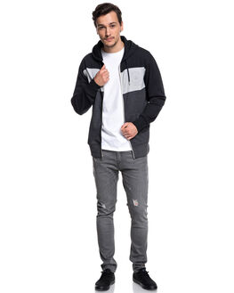 BLACK MENS CLOTHING QUIKSILVER JUMPERS - EQYFT03889KVJ0