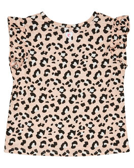 BLUSH LEOPARD PRINT KIDS GIRLS EVES SISTER TOPS - 8045037PRNT