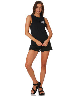 BLACK WOMENS CLOTHING SANTA CRUZ SINGLETS - SC-WTD9968BLK