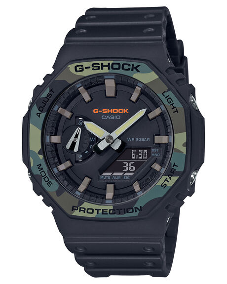 BLACK CAMO MENS ACCESSORIES G SHOCK WATCHES - GA2100SU-1ABCAM