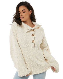 CREAM WOMENS CLOTHING ZULU AND ZEPHYR KNITS + CARDIGANS - ZZ1868CRE