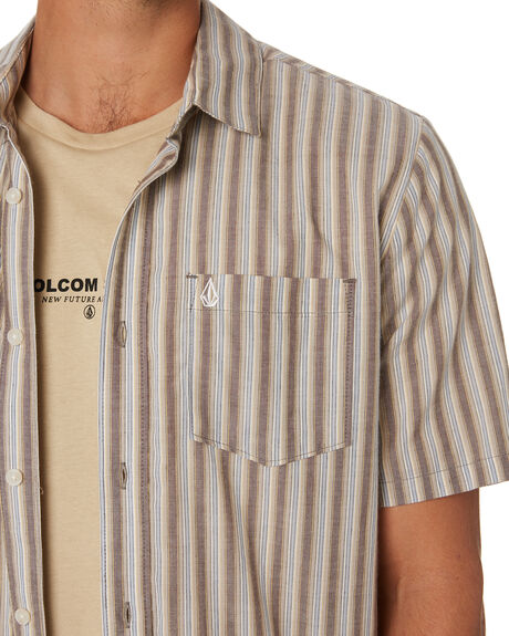 VINTAGE BROWN MENS CLOTHING VOLCOM SHIRTS - A0412009VBN