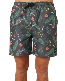 BLACK MENS CLOTHING RUSTY BOARDSHORTS - BSM1380BLK