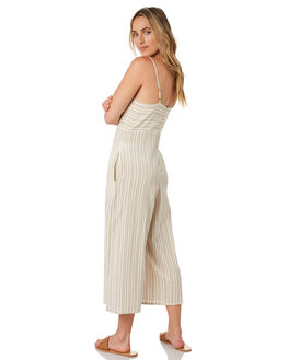 TAUPE STRIPE WOMENS CLOTHING O'NEILL PLAYSUITS + OVERALLS - 5921803TPS